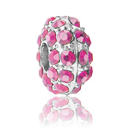 Pink Rhinestone Bead Image