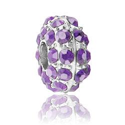 Light Amethyst Rhinestone Bead Image