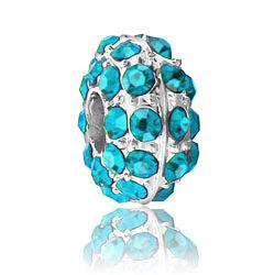 Turquoise Blue Rhinestone Bead Image