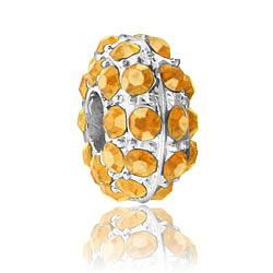 Topaz Rhinestone Bead Image