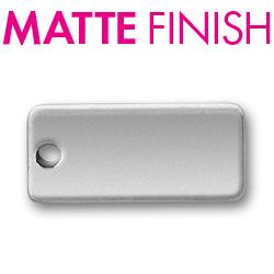 Custom Matte Pewter Rectangular Tag Image