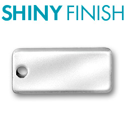 Custom Shiny Pewter Rectangular Tag Image