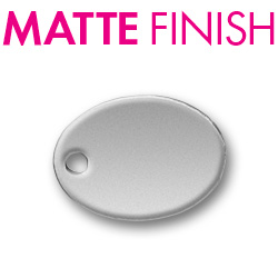 Custom Matte Pewter Oval Tag Image