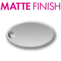 Custom Matte Pewter Oval 2 Tag Image