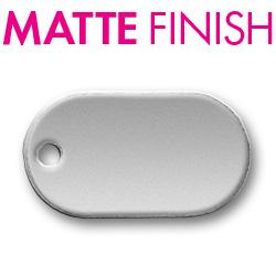Custom Matte Pewter Oval 3 Tag Image