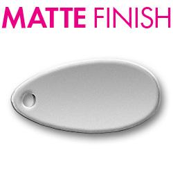 Custom Matte Pewter Oblong Tag Image