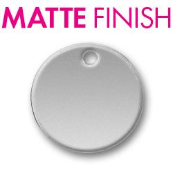 Custom Matte Pewter Circle Tag Image