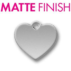 Custom Matte Pewter Heart Tag Image