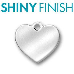 Custom Shiny Pewter Heart Tag Image