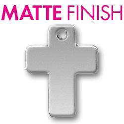 Custom Matte Pewter Cross Tag Image