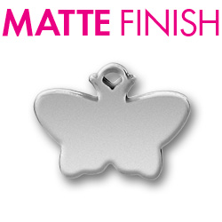 Custom Matte Pewter Butterfly Tag Image