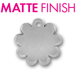Custom Matte Pewter Flower Tag Image