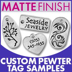 Matte Pewter Tag Sample Pack Image
