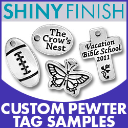 Shiny Pewter Tag Sample Pack Image