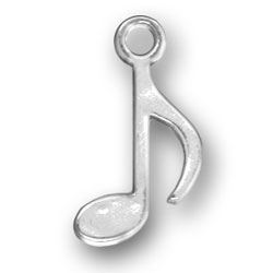 Pewter Musical 8th Note Charm Image