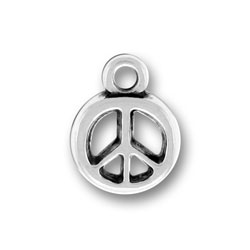 Pewter Peace Sign Charm Image