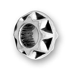 Pewter Geometric Design Bead Image