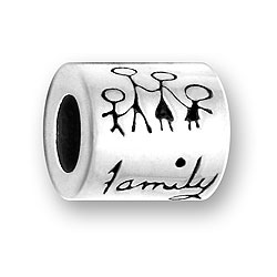 Pewter Family Bead Image