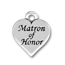 Pewter Matron Of Honor Charm Image