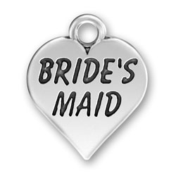 Pewter Bridesmaid Charm Image