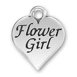 Pewter Flower Girl Charm Image