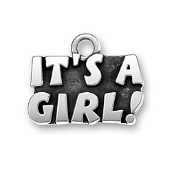 Pewter Its A Girl Charm Image