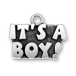 Pewter Its A Boy Charm Image