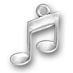 Pewter Musical Notes Charm Image