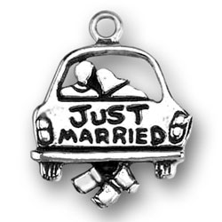 Pewter Just Married Charm Image