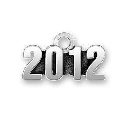 Pewter 2012 Charm Image