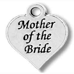 Pewter Mother Of The Bride Charm Image