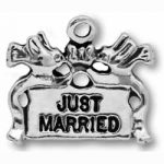 Just Married Pewter Charm Image