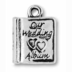 Pewter Wedding Album Charm Image