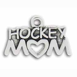Pewter Hockey Mom Charm Image