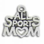 Pewter All Sports Mom Charm Image