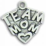 Pewter Team Mom Charm Image