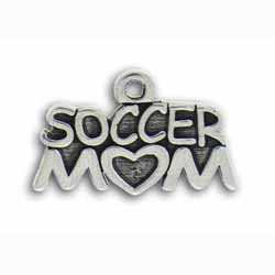 Pewter Soccer Mom Charm Image