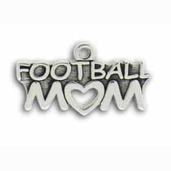 Pewter Football Mom Charm Image