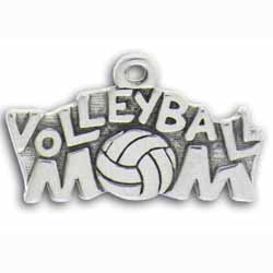 Pewter Volleyball Mom Charm Image