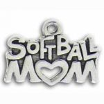 Pewter Softball Mom Charm Image