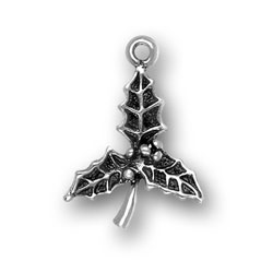 Pewter Holly Charm Image