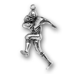Pewter Football Player Charm Image