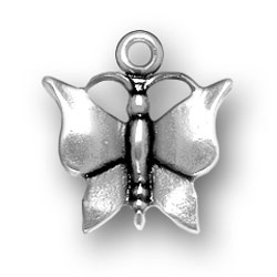 Pewter Solid Butterfly Charm Image