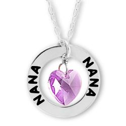 Nana Affirmation Birthstone Necklace Image