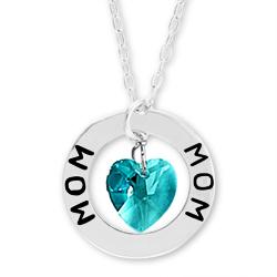 Mom Affirmation Birthstone Necklace Image