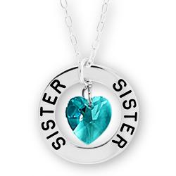 Sister Affirmation Birthstone Necklace Image