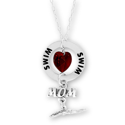 Swim Mom Affirmation Necklace Image