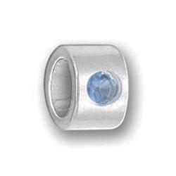 Pewter Luv Link December With Zircon Sworovski Crystals Image