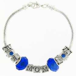 Birthstone Mom Silver Tone Bracelet Image