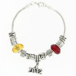 Graduation Silver Tone Bracelet With School Colors Image